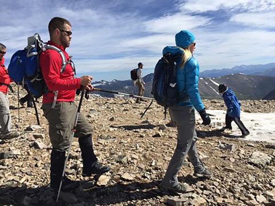 Guiding Aaron, a blind veteran and hero on Colorado 14,000 foot climb