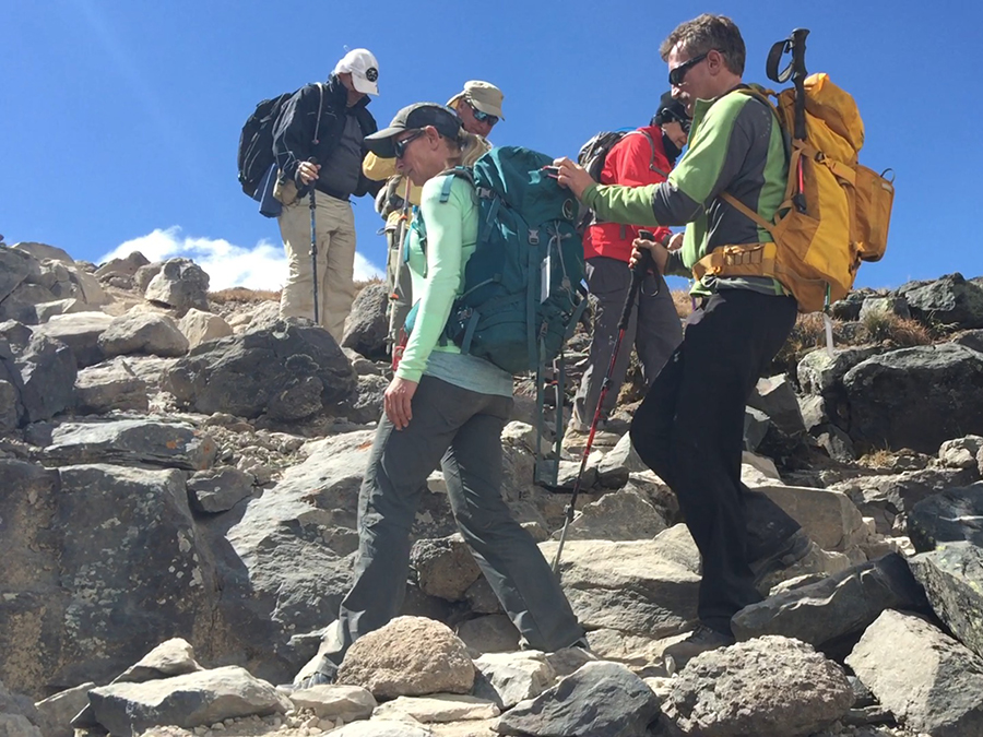 Mt. Kilimanjaro 2015: Guiding Lonnie, a blind veteran. Lonnie is adventurous, funny and a great dancer to boot!