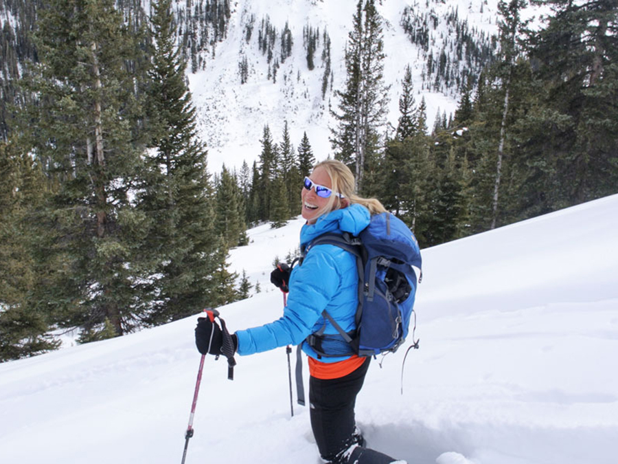 Backcountry snowshoeing in the San Juan Mountains